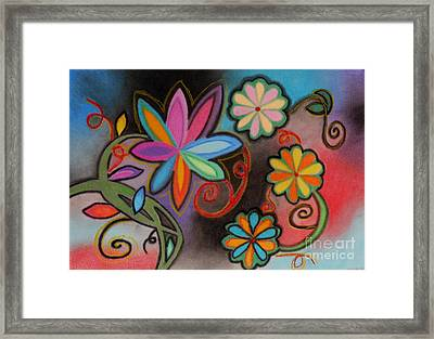 Flowers Of Dreams Framed Print by Christine Perry