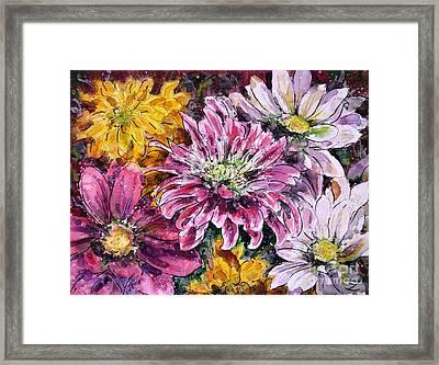 Flowers Of Love Framed Print by Zaira Dzhaubaeva