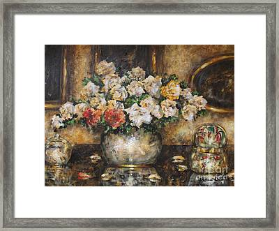 Flowers Of My Heart Framed Print by Dariusz Orszulik