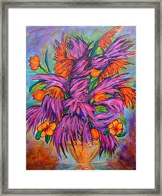 Flowers Of Passion Framed Print by Phoenix The Moody Artist