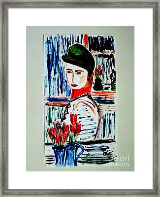 Flowers Of Rue Cler Framed Print