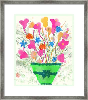 Framed Print featuring the digital art Flowers Of Spring by Mary M Collins