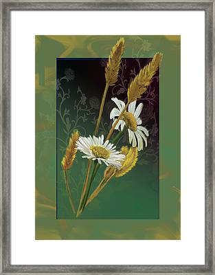 Flowers Of The Field Framed Print