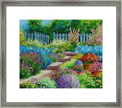 Flowers Of The Garden Framed Print
