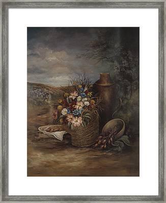 Flowers Of The Holyland Framed Print