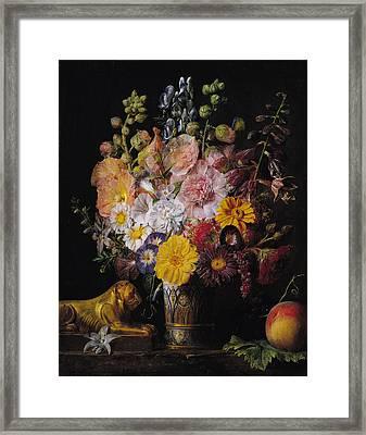 Flowers  Framed Print by Jean Francois Garneray