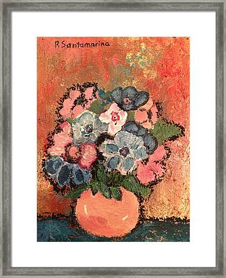 flowers on Bronze Framed Print