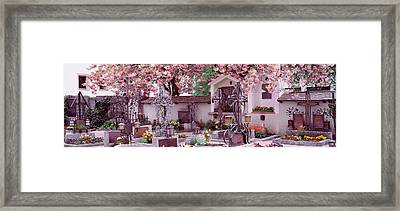 Flowers On Tombstones, Tirol, Austria Framed Print by Panoramic Images