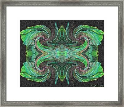 flowers on Venus Tile Framed Print by Brian Johnson