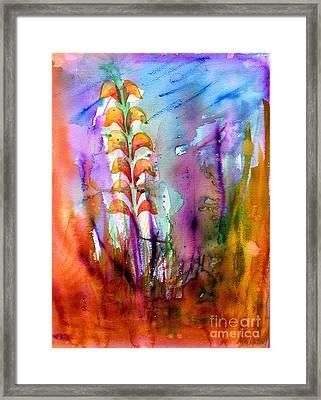 Flowers Orange Framed Print
