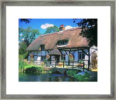 Flowers Outside A Fulling Mill Framed Print by Andy Williams/science Photo Library