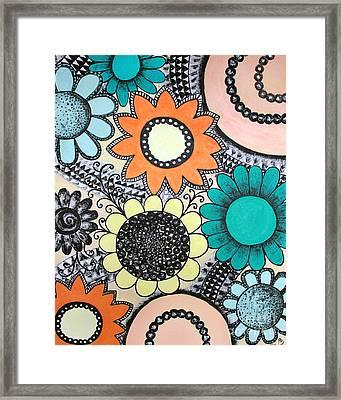Flowers Paradise Framed Print by Home Art
