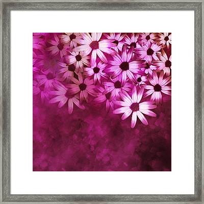 Flowers Pink On Pink Framed Print by Ann Powell