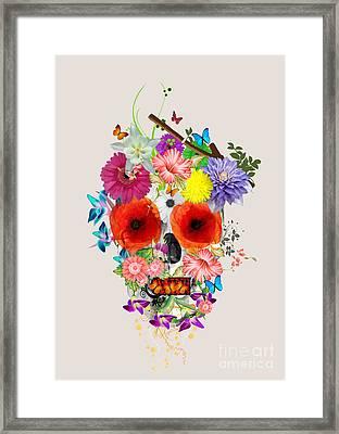 Flowers Scull  Framed Print by Mark Ashkenazi