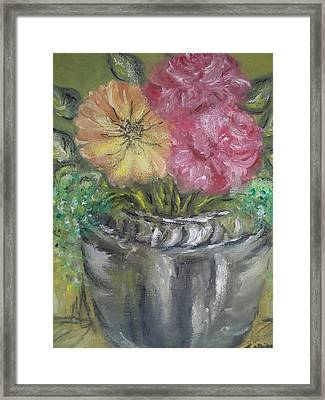 Framed Print featuring the painting Flowers by Teresa White