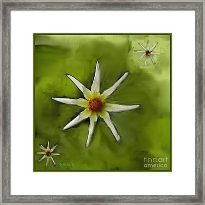 Flowers White Framed Print by Nedunseralathan R