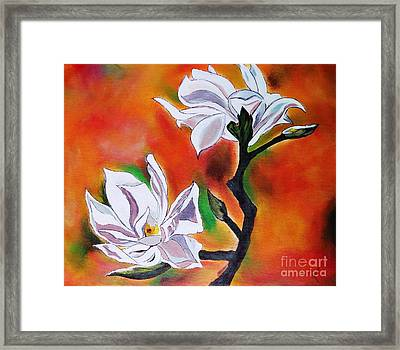 Flowers With Colors Framed Print