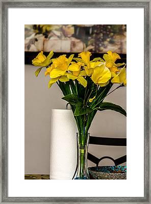 Flowervase Framed Print