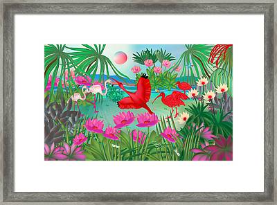Flowery Lagoon - Limited Edition 1 Of 20 Framed Print