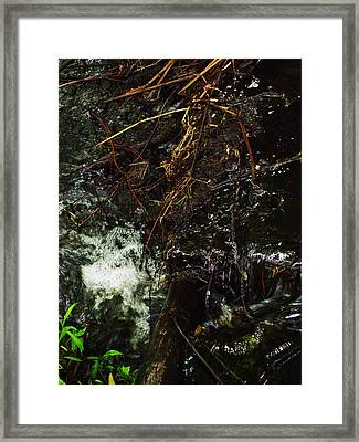 Flowing And Churning Of The Kaaterskill Framed Print