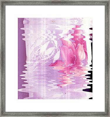 Flowing  Framed Print by Anne-Elizabeth Whiteway