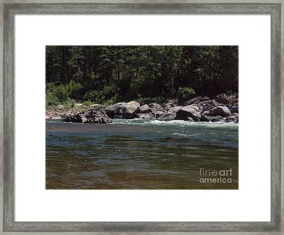 Flowing Framed Print by Christian Jansen
