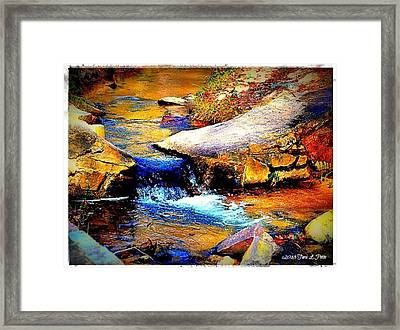 Framed Print featuring the photograph Flowing Creek by Tara Potts