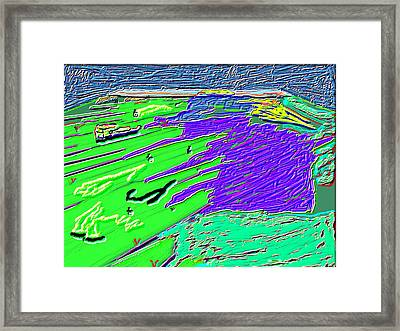 Flowing Edge World Digital Painting Framed Print by Colette Dumont