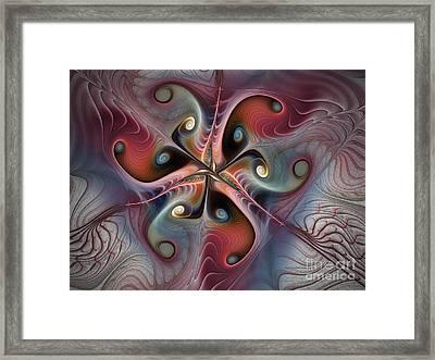 Flowing Encounters Framed Print