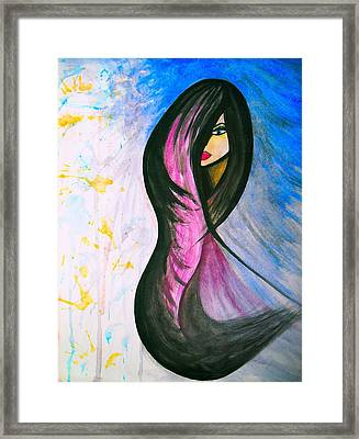 Flowing Framed Print by Erica Crique