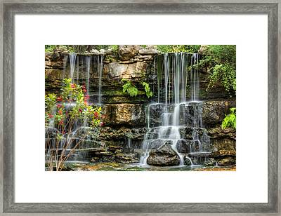 Framed Print featuring the photograph Flowing Falls by Dave Files