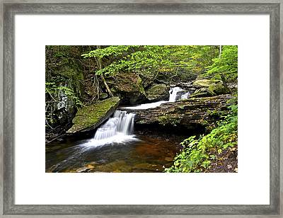 Flowing Falls Framed Print by Frozen in Time Fine Art Photography