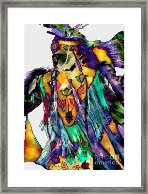 Flowing Feathers Framed Print by Linda  Parker