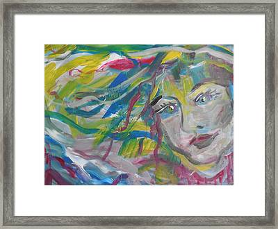 Flowing Girl Framed Print by Made by Marley