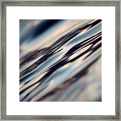 Framed Print featuring the photograph Flowing Glass by Brad Brizek