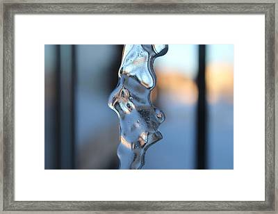 Flowing Ice Framed Print
