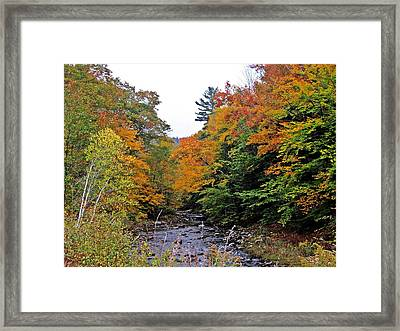Flowing Into October Framed Print