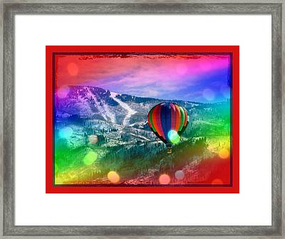 Flowing Rainbow Balloon Framed Print by Tracie Howard