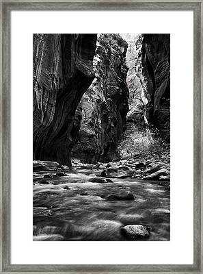 Flowing River In The Narrows Framed Print by Andrew Soundarajan