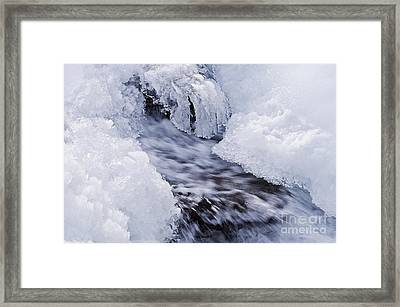 Flowing Framed Print by Simona Ghidini