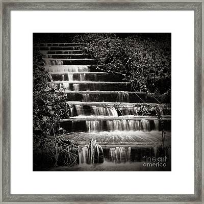 Flowing Stairs Framed Print by Charmian Vistaunet