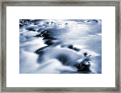 Flowing Stream Framed Print by Les Cunliffe