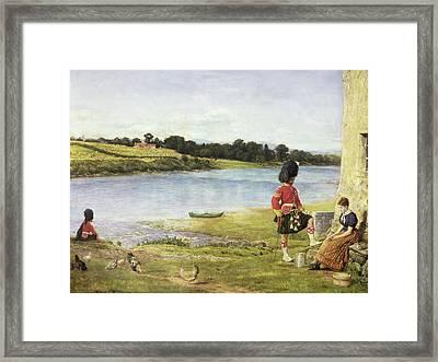 Flowing To The Sea, 1871 Framed Print by Sir John Everett Millais