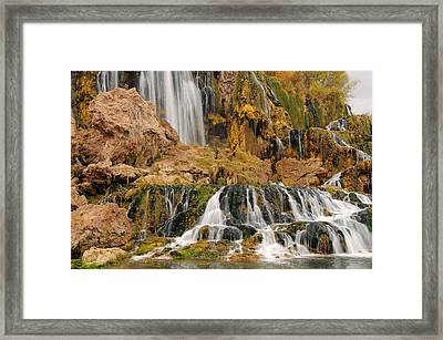 Flowing To The Snake Framed Print by Jim Southwell