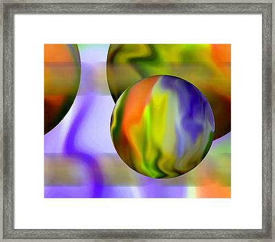 Flowing With Life 11 Framed Print by Angelina Vick