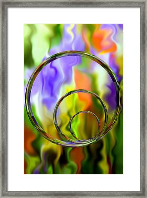 Flowing With Life 14 Framed Print by Angelina Vick