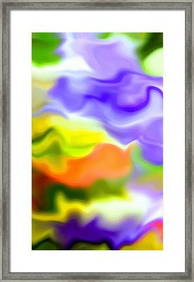 Flowing With Life 5 Framed Print by Angelina Vick