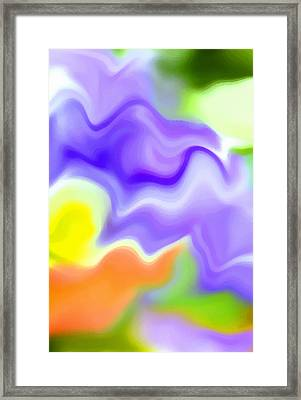 Flowing With Life 6 Framed Print by Angelina Vick