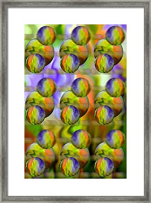 Flowing With Life 7 Framed Print by Angelina Vick