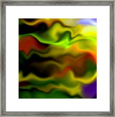 Flowing With Life 8 Framed Print by Angelina Vick